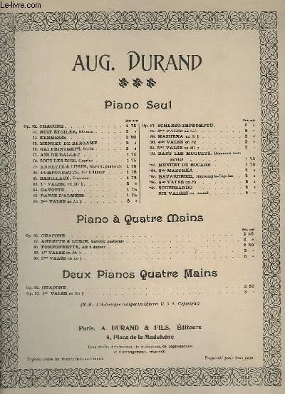 1° VALSE - OP.83. - POUR PIANO.