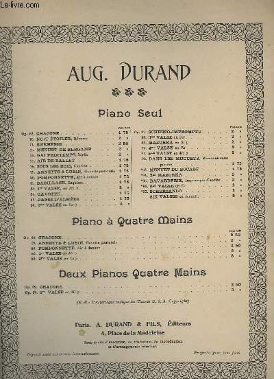 2° VALSE - OP.86 - POUR PIANO.