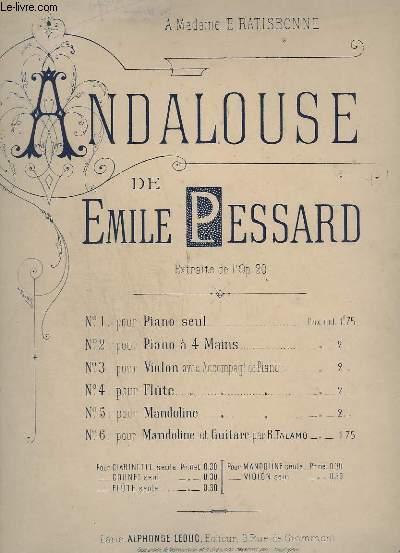 ANDALOUSE - N°4 : POUR FLUTE AVEC ACCOMPAGNEMENT DE PIANO.