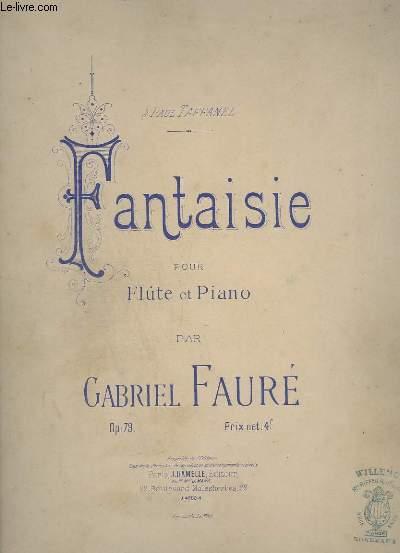 FANTAISIE POUR FLUTE ET PIANO - OP.79.