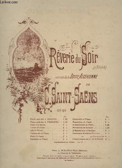 REVERIE DU SOIR - EXTRAITE DE LA SUITE ALGERIENNE - PIANO / VIOLON + FLUTE - OP.60.