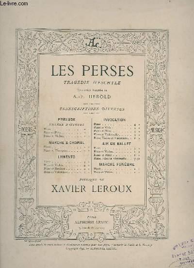 LES PERSES - POUR PIANO ET FLUTE - AIR DE BALLET.