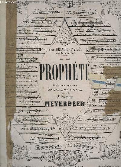 PROPHETE - OPERA EN 5 ACTES - PIANO + FIDES.