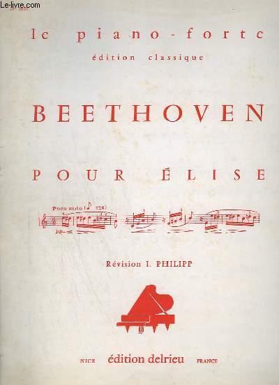 POUR ELISE - LE PIANO FORTE - N°1020.