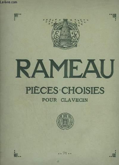PIECES CHOISIES POUR CLAVECIN - TEXTES FRANCAIS / ANGLAIS / ALLEMAND - GIGUE EN RONDEAU + LE RAPPEL DES OISEAUX + MUSETTE EN RONDEAU + TANBOURIN + LES TENDRES PLAINTES + LES NIAIS DE SOLOGNE + LA JOYEUSE + L'ENTRETIEN DES MUSES + LES CYCLOPES...