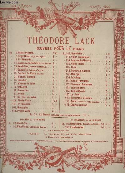 PENDANT LA VALSE - CAPRICE POUR PIANO - OP.73.