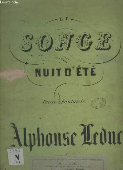 LE SONGE D'UNE NUIT D'ETE - PETIT FANTAISIE POUR PIANO.