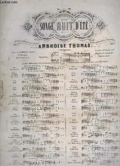 SONGE D'UNE NUIT D'ETE - N°9 POUR PIANO ET CHANT.