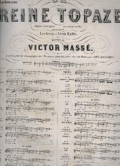 LA REINE TOPAZE - N°2 POUR PIANO.