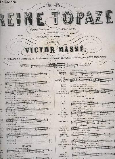 LA REINE TOPAZE - N°3 : CHANSON DE L'ABEILLE - POUR PIANO.