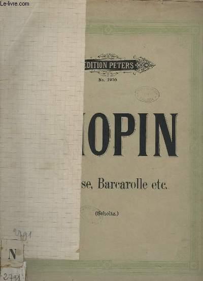 BERCEUSE + BARCAROLLE + BOLERO + TARANTELLE + ALLEDRO DE CONCERT - N°1910.