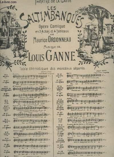 LES SALTIMBANQUES - N°9 A : VALSE C'EST L'AMOUR - PIANO ET CHANT - OPERA COMIQUE EN 3 ACTES ET 4 TABLEAUX.