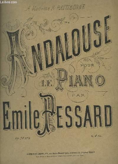 ANDALOUSE - OP.20 N°8 - POUR LE PIANO.