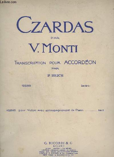 CZARDAS - POUR ACCORDEON.