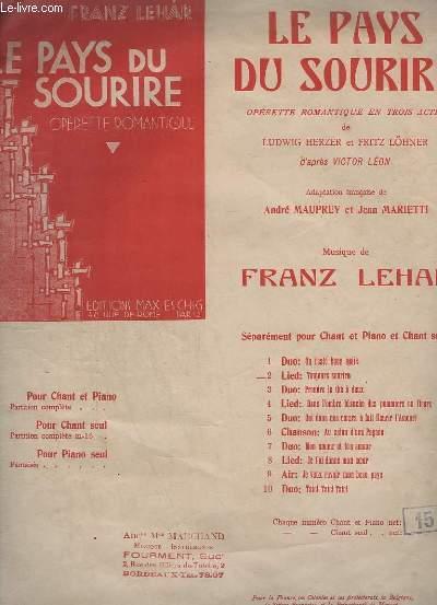 LE PAYS DU SOURIRE - N° 2 : LIED : TOUJOURS SOURIRE.