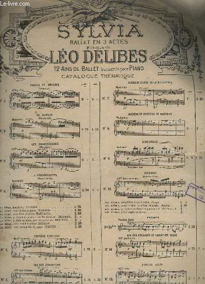 SYLVIA - OU LA NYMPHE DE DIANE - POUR PIANO.