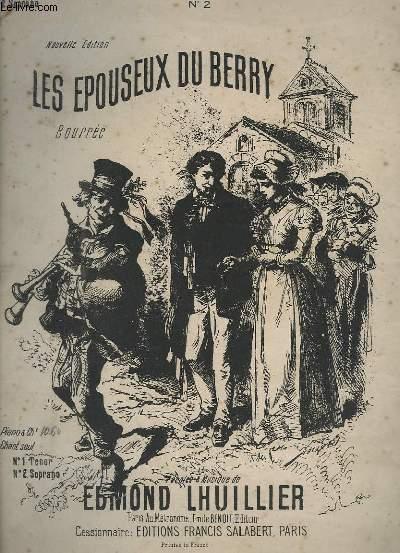 LES EPOUSEUX DU BERRY - BOURREE - POUR PIANO - N°2 : POUR SOPRANO.