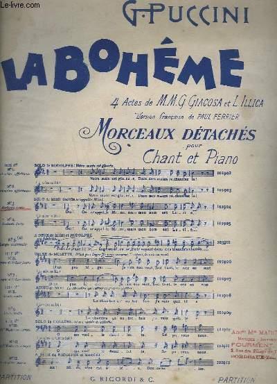 LA BOHEME - N°3 : ACTE 1° SOLO DE MIMI : OUI ! ON M'APPELLE MIMI - PIANO ET CHANT.