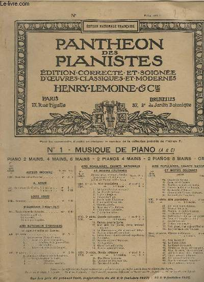 LA CHASSE - OEUVRES DIVERSES POUR PIANO N°368.