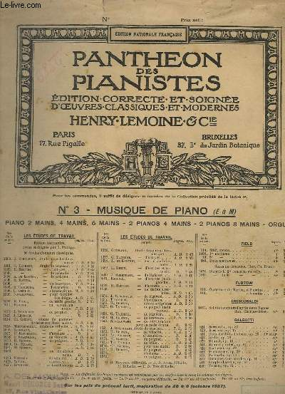 MARCHE MILITAIRE - POUR PIANO A 2 MAINS - OP.51 N°1.