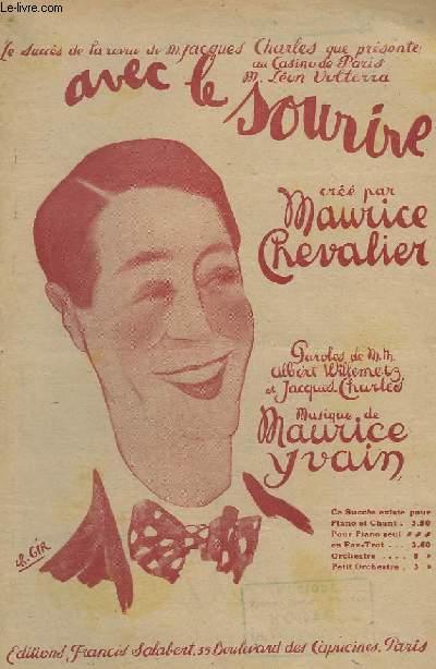 AVEC LE SOURIRE - CHANT.