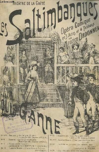 LES SALTIMBANQUES - N°9 : C'EST L'AMOUR - OPERA COMIQUE EN 3 ACTES ET 4 TABLEAUX.