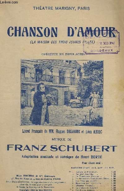 CHANSON D'AMOUR - N°10 : SERENADE - CHANT.