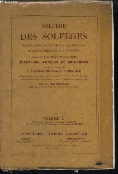 SOLFEGE DES SOLFEGES - VOLUME 1 C : MEMES LECONS QUE 1 A EN CLE DE FA 4° LIGNE EXCLUSIVEMENT.