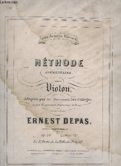 METHODE ELEMENTAIRE POUR VIOLON - OP.28.