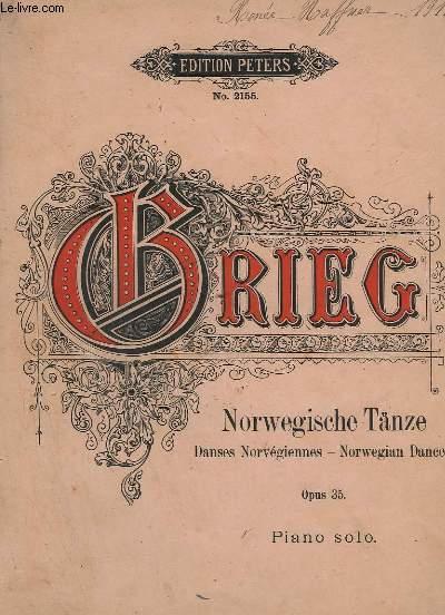 NORWEGISCHE TANZE / DANSE NORVEGIENNES / NORWEGIAN DANCES - OPUS. 35 - PIANO SOLO - N°2155.