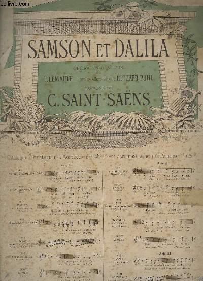 SAMSON ET DALILA - N°6 - CHANT + PIANO - MEZZO-SOPRANO.