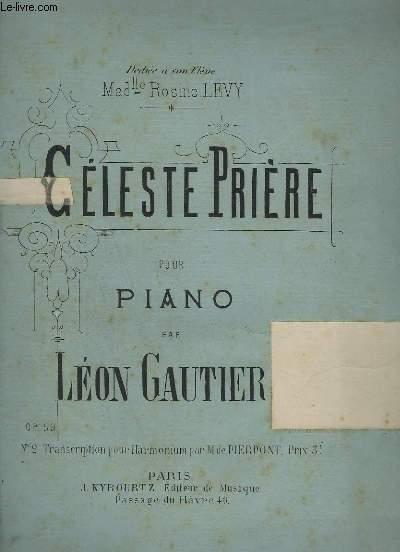 CELESTE PRIERE - POUR PIANO - OP.59.