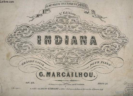 INDIANA - OP.16 - 5 EDITION.