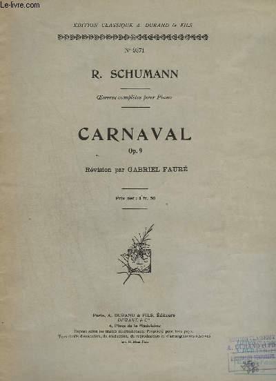 CARNAVAL - OP.9 - N°9371.