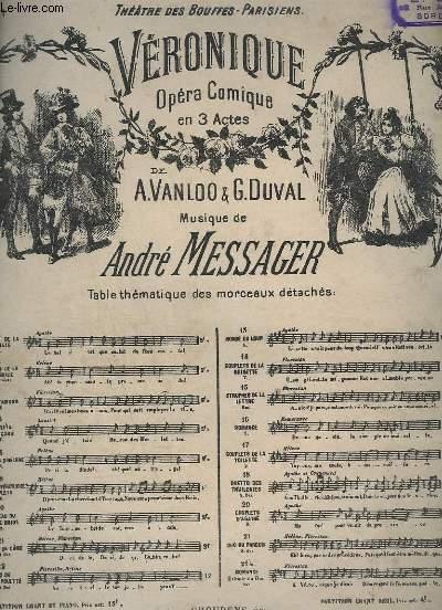 VERONIQUE - OPERA COMIQUE EN 3 ACTES - N°11 - PIANO + CHANT ( HELENE+FLORESTAN ).
