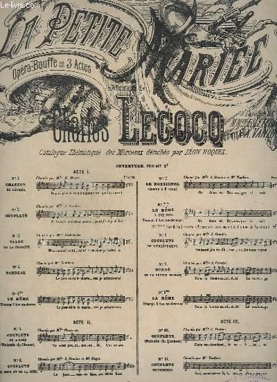 LA PETITE MARIEE - N°7 - LE ROSSIGNAL CONTE A 2 VOIX + PIANO.