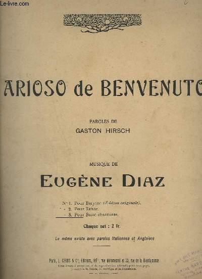 ARIOSO DE BENVENUTO - N°3 : BASSE CHANTANTE : BENVENUTO + PIANO.