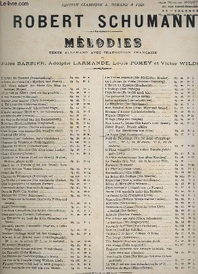 LE NOYER - DER NUSSBAUM - PIANO ET CHANT - PAROLES ALLEMANDES + FRANCAISES.