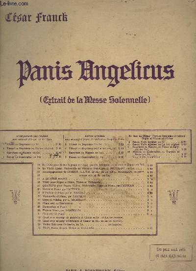 PANIS ANGELICUS / PAIN DES ANGES - CHANT + ORGUE - BASSE OU CONTRALTO.