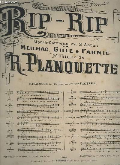 RIP - RIP - N°3 : AIR POUR CHANT + PIANO.