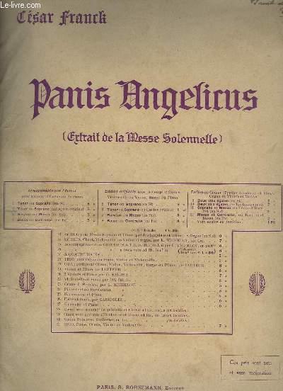 PANIS ANGELIUS - CHANT + ORGUE - SOPRANO OU TENOR.