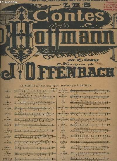 CONTES D'HOFFMANN - N° 13 BIS : BARCAROLLE - A DEUX VOIX + PIANO.