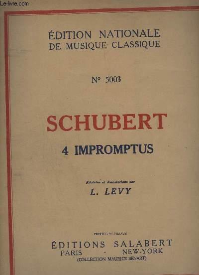 4 IMPROMPTUS - N°5003. - POUR PIANO.