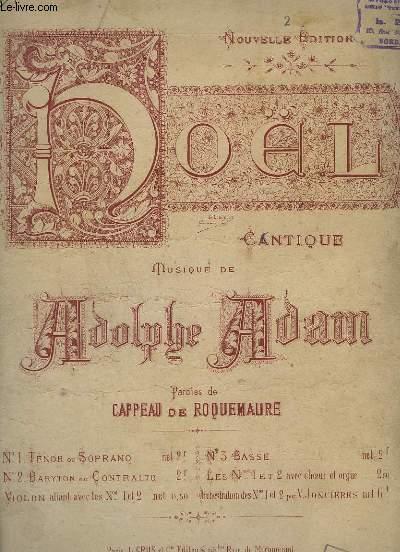 CANTIQUE DE NOEL - N°2 : BARYTON OU CONTRALTO - CHANT + PIANO.