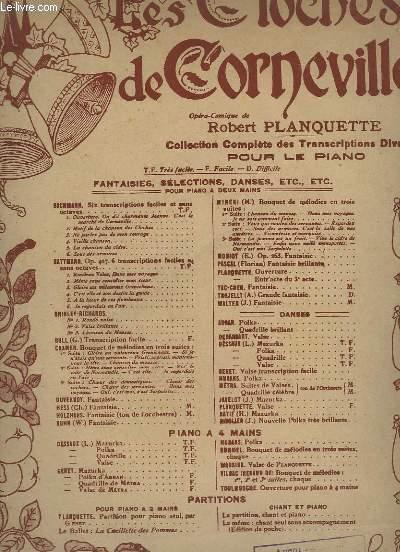LES CLOCHES DE CORNEVILLE - POUR PIANO.