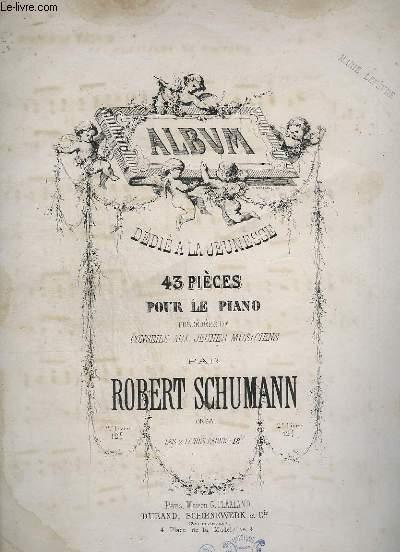 ALBBUM DEDIE A LA JEUNESSE - 43 PIECES POUR LE PIANO - 2° PARTIE - N°21 A 43.