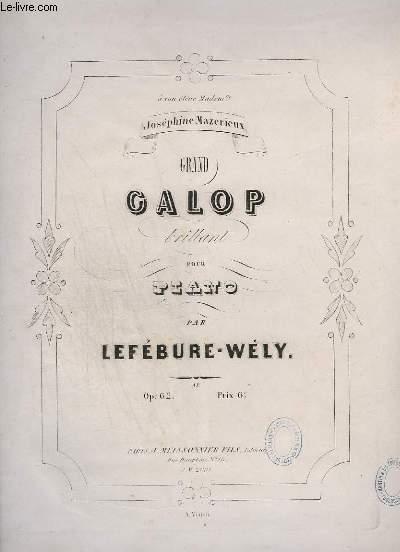 GRAND GALOP BRILLANT POUR PIANO.