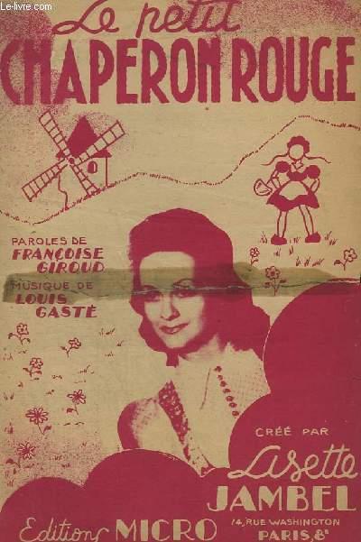 LE PETIT CHAPERON ROUGE -CHANSON SKETCH.