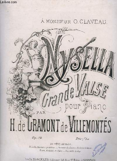 NYSELLA - GRANDE VALSE POUR PIANO - OP.14.