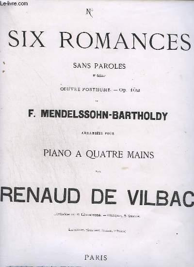 6 ROMANCES SANS PAROLES 8° CAHIERS - N°2 : OP.102.